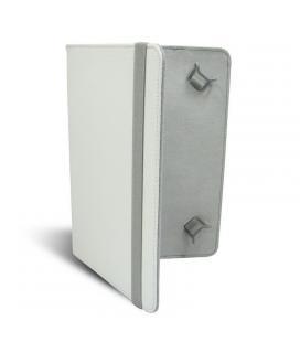 Funda universal leotec left09w blanca - para tablets 9'/22.86cm - tipo libro - ajuste mediante ganchos elásticos