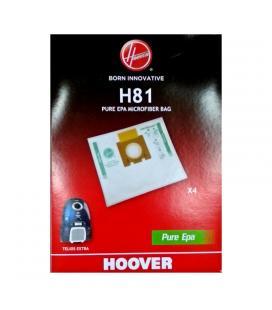 Bolsa pure hepa hoover h81 para aspirador telios extra - 4 unidades - Imagen 1
