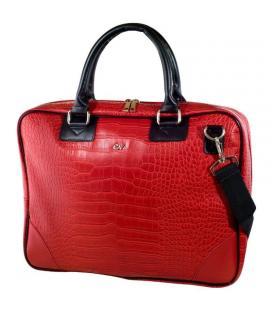 Maletín e-vitta business advance rojo - para portátiles 15.4'-16'/39.1-40.6cm - interior acolchado - dos compartimentos