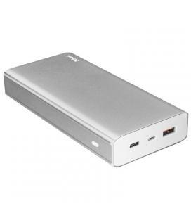 Batería externa trust urban omni plus metal powerbank 20000mah - usb tipo a 5v/2.4a/12w qc3.0 15w + usb tipo c 5v/3a/15w