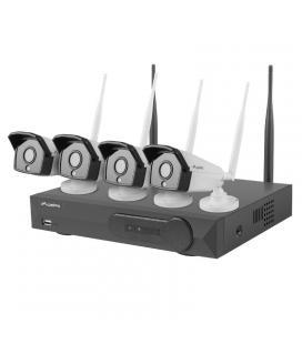 Kit wifi nvr lanberg ics-0404-0013 - 4*camaras 1.3 mp - rj45/wifi - infrarrojos - grabador 4 canales con capacidad para hdd 6 -