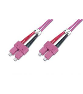 CABLE CONEXIËN FIBRA OPTICA DIGITUS MM OM4 SC a SC 50/125 2m
