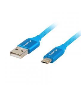 Cable usb lanberg ca-usbm-20cu-0010-bl - conectores usb a a micro usb - qc 3.0 - 1m - azul