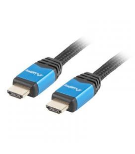 Cable hdmi lanberg ca-hdmi-20cu-0018-bl - conectores macho/macho chapados en oro - carcasa aluminio - resolución hasta