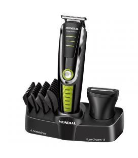 Corta pelo afeitadora mondial bg04 multi grooming 6 - 4 cabezales - 4 guías de corte - batería recargable - autonomía de 90 min