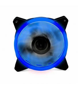 Ventilador ordenador doble led azul phoenix 12cm / 3 a 4 pines/ 1200rpm/ silencioso