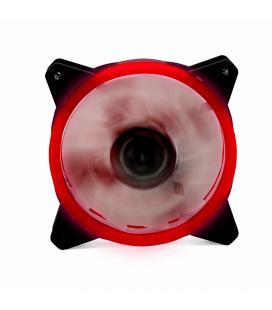 Ventilador ordenador doble led rojo phoenix 12cm / 3 a 4 pines/ 1200rpm/ silencioso