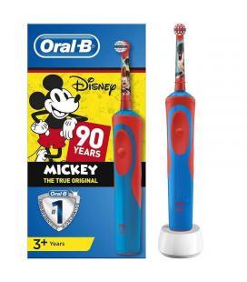 Cepillo dental infantil braun oral-b kids power mickey mouse 90 aniversario - filamentos extrasuaves- batería recargable -
