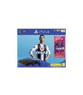 CONSOLA SONY PLAYSTATION 4 SLIM 1TB + FIFA 19+ 2 Mandos dual shock