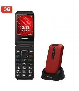 Teléfono móvil libre telefunken tm 360 cosí rojo - pantalla 7.1cm - 3g - teclas whatsapp/facebook - cam 2mp - microsd - android