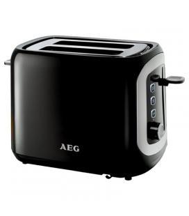 Tostador de pan aeg at3300 negro - 940w - 2 ranuras - 7 niveles tostado - calentador integrado - tapa superior antipolvo - Image