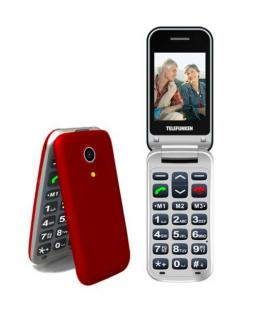 Teléfono móvil libre telefunken tm 210 izy red - pantalla 2.4'/6cm - bt - teclas grandes - cuatribanda - cámara - microsd -