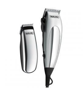 Cortapelos + recortadora de precisión wahl deluxe homepro - 10 peines guía - cuchillas autoafilables - peine + tijeras + aceite