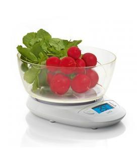 Báscula de cocina laica ks1019 blanca - bol gran capacidad - display retroiluminado - hasta 5kg - precisión 1g - Imagen 1