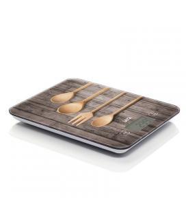 Báscula de cocina laica ks5010 madera cucharas - pesa en g/ml - pantalla táctil - hasta 10kg - precisión 1g - Imagen 1