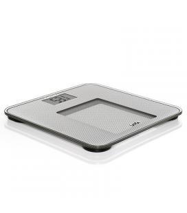 Báscula de baño analizadora laica ps4010 plata - gran display lcd - calcula índice masa corporal - peso máximo 150kg - - Imagen
