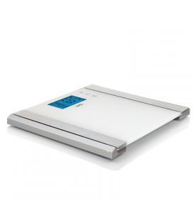 Báscula de baño analizadora laica ps5011 blanca - gran display lcd - calculo composición corporal - peso máximo 150kg - - Imagen