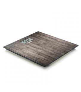 Báscula de baño laica ps1065 madera oscura - peso máximo 180kg - divisiones 100g - plataforma vidrio templado - Imagen 1
