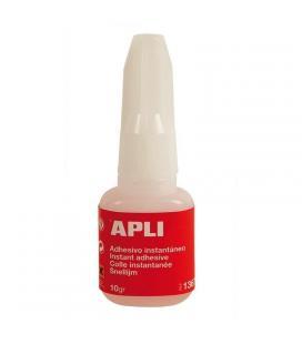 Adhesivo instantáneo apli 13677 - con pincel aplicador - 10gr - transparente - Imagen 1