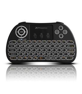 Mini teclado inalambrico wireless 2.4ghz phoenix touchpad multimedia smart tv / tvbox / android tv / color negro