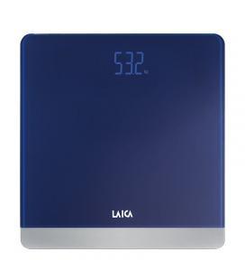 Báscula de baño laica ps1057 azul oscuro - display led color - peso máximo 180kg - divisiones 100g - plataforma vidrio templado