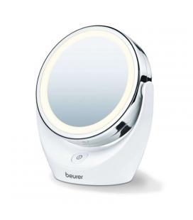 Espejo de maquillaje con luz beurer bs-49 - ø11cm - 2 superficies (normal/5 aumentos) - 12 leds - color blanco mate - Imagen 1
