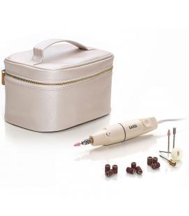 Set de manicura y pedicura laica sb2400 plata - velocidad rotación ajustable - 7 accesorios - caja estuche - Imagen 1