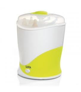 Esterilizador a vapor de biberones eléctrico laica bc1005 blanco/pistacho - 400w - hasta 6 biberones - esterilización 10 min -