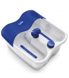 Masajeador de pies laica pc1017 azul - vibración - fondo caliente - tapa antisalpicaduras - 3 funciones - masajeador giratorio -