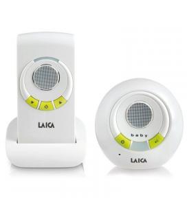 Escucha bebés laica bc2002 blanco/pistacho - alcance 300m exterior/50m interior - uso con cable y batería nimh - fijación a un
