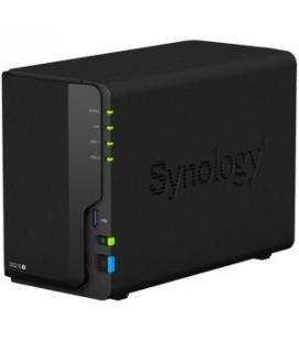 Servidor nas synology disk station ds218+ 2 gb 2 bahias raid ethernet gigabit