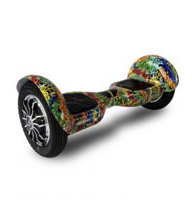 """Hoverboard skateflash k10+b hip hop rueda 10"""" bateria 4000 mah motor 350wx2"""