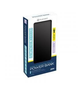 PLATINET POWER BANK 8000mAh+ cable+ linterna Azul