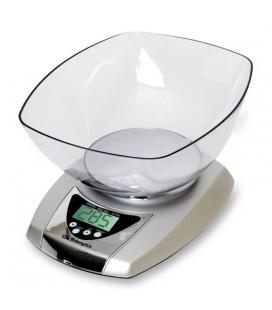 Báscula de cocina orbegozo pc 2015 - hasta 5 kg - precisión 1g - termómetro y temporizador de alarma - gran bol transparente - I