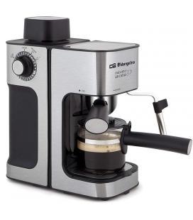 Cafetera orbegozo exp 5000 - 800w - 3.5 bar - deposito de agua con tapón de seguridad - vaporizador - jarra de cristal incluida