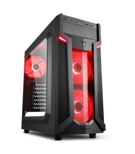 CAJA ATX SHARKOON VG6-W 2XUSB3.0 SIN FUENTE RED