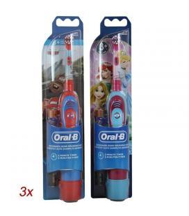 Caja 6 cepillos oral-b disney (3* princess girls+3* cars) - limpieza 2d - filamentos extrasuaves - temporizador - 2*aa - a