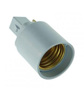 Adaptador/conversor 10163 e27 a g24 - ip20 - 40x40x70 mm - abs