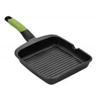 Asador grill prior rayas bra a121457 - 28x28cm - espesor 5mm - aluminio fundido - teflón antiadherente - mango ergonómico