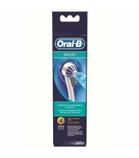 Pack 4 cabezales de recambio originales oral-b para irrigador oxyjet