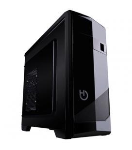 Caja semitorre atx hiditec m10 pro cha010021 - 2*usb 3.0 - usb 2.0 - lector tarjetas - screwess system - microatx - negro glossy