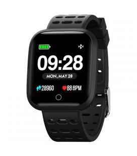Reloj inteligente innjoo sportwatch negro - pantalla 3.3cm - cuantificador salud - notificaciones - bat 180mah - compatible