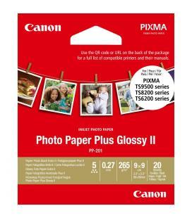 Papel canon foto pp-201 2311b070 9x9/ 20 hojas
