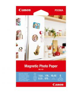 Papel canon foto mg-101 3634c002 a6 10x15/ 5 hojas