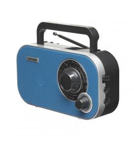 Radio portátil denver tr-54mk2 blue - am/fm - entrada auxiliar - toma auriculares