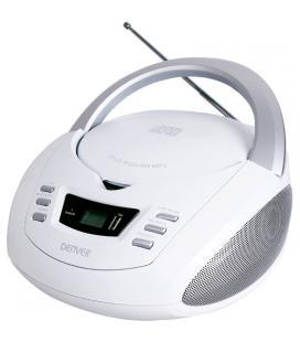 Reproductor cd denver tcu-211 white - 2x 1w rms - pantalla lcd - usb - mp3 -radio fm - entrada auxiliar