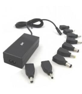 Adaptador cargador de corriente silver ht /dsk automatico 40w / para notebook portatil / incluye 9 conectores / negro