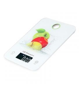 Báscula de cocina orbegozo pc 1020 - cristal templado - función tara - capacidad max. 5kg - autoapagado - 2*cr2032