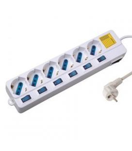 EWENT EW3932 Regleta 6 Tomas / 6 interruptor 1.5 m - Imagen 1