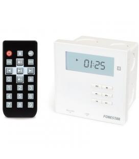 Amplificador de pared fonestar wa-66r blanco - receptor bt 2.1 - 2*10w - fm - usb - microsd - pantalla - caja de empotrar -